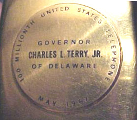 100 Millionth US Telephone plaque