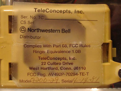 Bell System Label (LaBelle Phone)