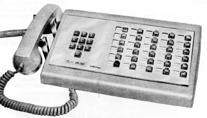 WE 1635 Call Director, 30-button