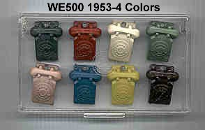 WE500 1953-4 colors -- Announcement keychains