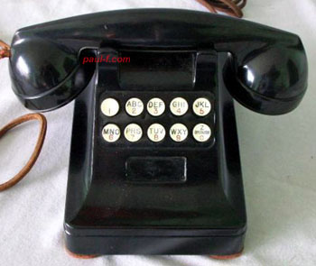 WE 1948 pushbutton dial set